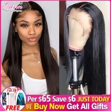 Perruque de cheveux naturels, Lace Frontal, Closure 4x4, lisse, 30/32 pouces, pré emballé, avec Baby Hair