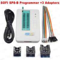 SOFI SP8-A/SP8-B programmierer + 3 Adapter high speed USB programmierer (93/24/25/BR90/