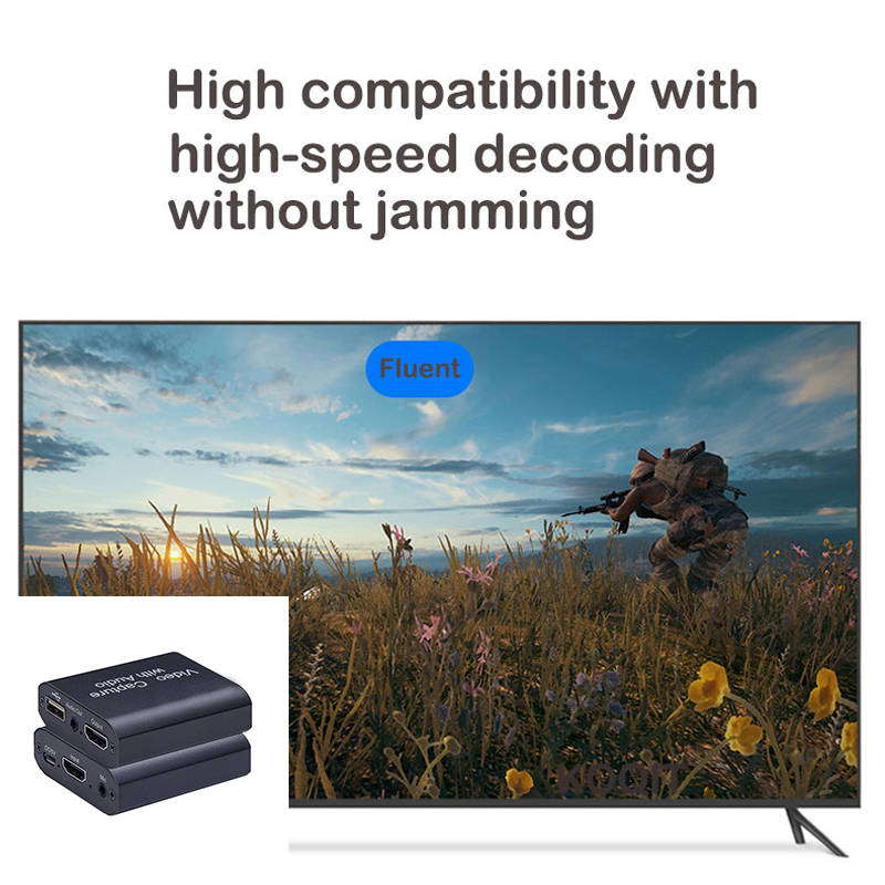 HDMI-compatible video capture card USB3.0 audio device captures switch/PS4 game 1080p 30fps 4K video Loop Out for Live Streaming 4