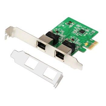 Adaptador de red de tarjetas de red QINDIAN PCI-Express Dual Gigabit Ethernet controlador tarjeta RTL8111 Chipset con soporte de perfil bajo