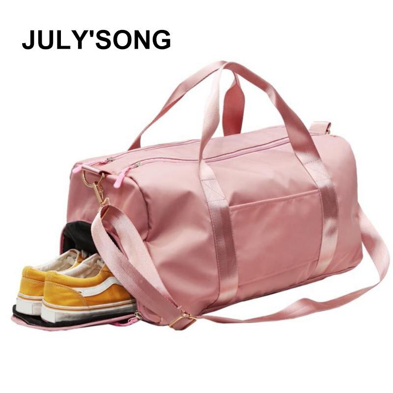 JULY'SONG Travel Sports Gym Shoulder Bag Large Waterproof Nylon Handbags  Outdoor Sport Bags Convenient Handbag