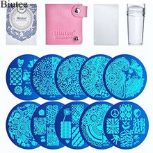 цена на Biutee 10pcs  Stamp Stamping Plates Nail Plates 1 Stamper 1 Scraper Nail Art Image Manicure Template Nail Art Tools Stampers