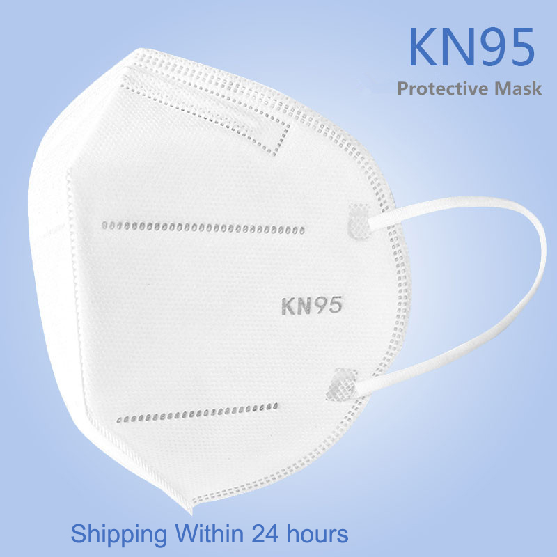 KN95 N95 Mouth Dust Face Mask Anti-Haze Fog Protective Mask 5-Ply Filtering Nonwoven Hygiene Elastic Dustproof Profession Masks