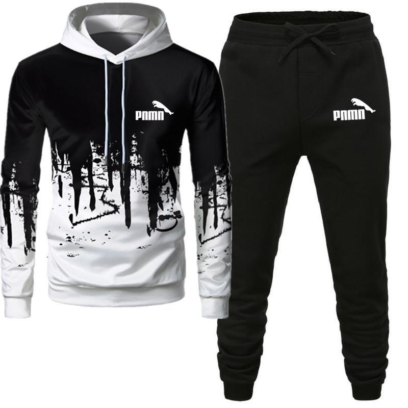Movement2 Pieces Sets Tracksuit Men Hooded Sweatshirt+pants Pullover Hoodie Sportwear Suit Casual Men Clothes Size S-4XL