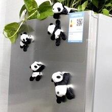 1 милая мягкая плюшевая панда магнитная наклейка на холодильник наклейки с персонажами из мультфильмов подарок сувенир домашнее украшение кухонные аксессуары