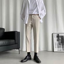 Модный брендовый мужской блейзер в Корейском стиле модные прямые