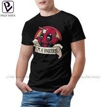 Camiseta de Deadpool, camiseta I Am A Unicorn, ropa de calle impresionante, camiseta 100 algodón, camiseta de manga corta oversize