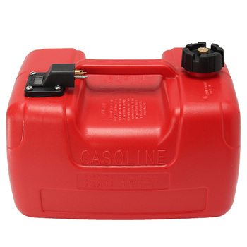 12L Portable Boat Yacht Engine Marine Outboard Fuel Tank Oil Box with Connector Red Plastic Corrosion-Resistant Anti-Static