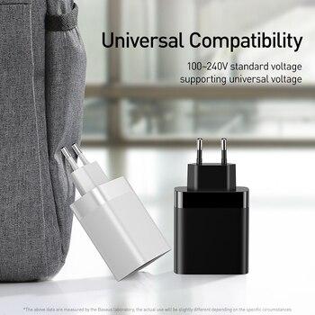 Baseus USB зарядное устройство для IPhone 11 Pro Max 30 Вт Быстрая зарядка для Xiao Mi Red Mi Huawei Mate 30 Pro Быстрая зарядка 4 порта Usb зарядка