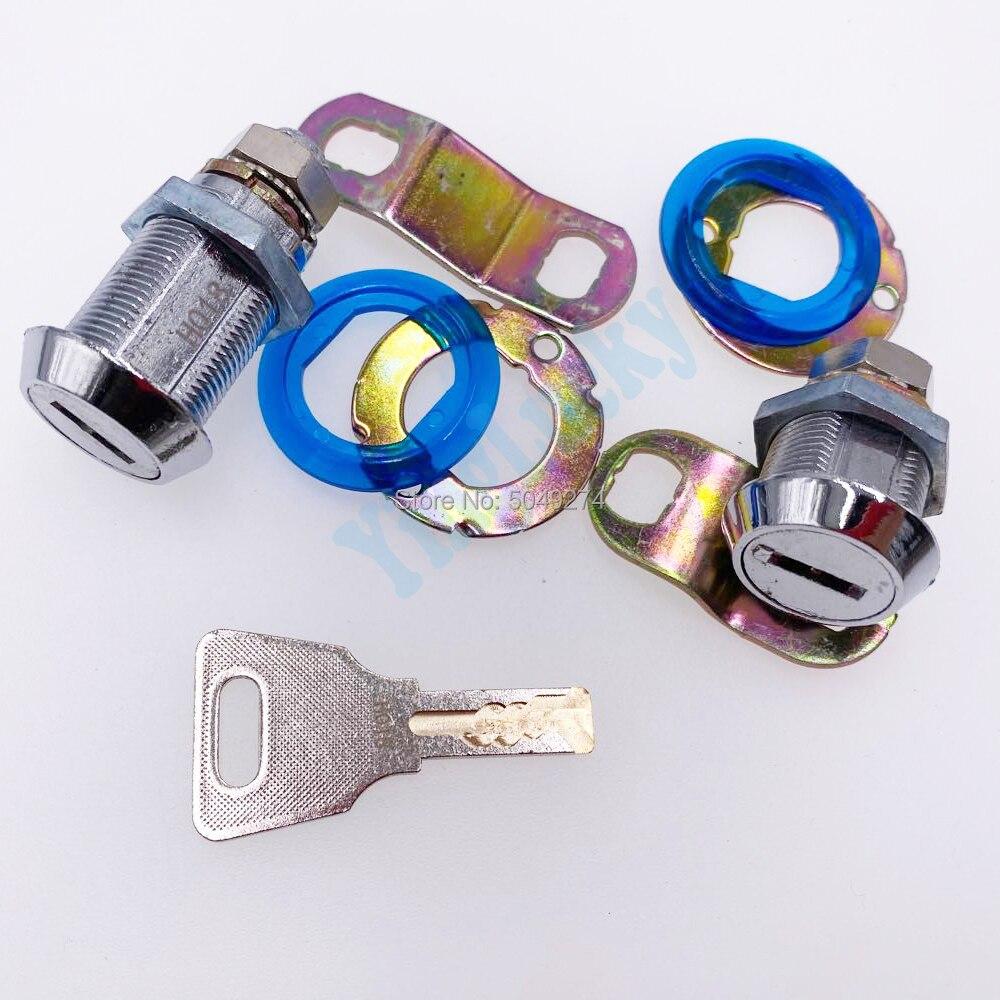 Yinglucky 1 Pair Plastic Core 35mm + 45mm CAM Door Lock Key Lock For Jamma Arcade Pinball Doll Games Machines