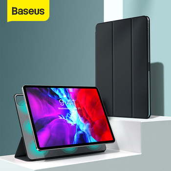 Baseus Luxury Case for iPad Pro 12.9 11 2020 Coque Back Stand with Auto Sleep Wake Up PU Leather Smart Cover for iPad Pro Fundas for ipad pro 12 9 case aiyopeen 3 fold pu leather smart wake up sleep with matte transparent pc back cover magnetic flip stand