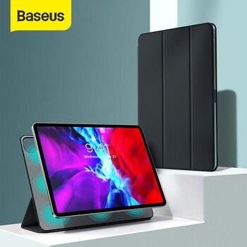Baseus lüks kılıf için iPad Pro 12.9 11 2020 Coque arka standı otomatik uyku uyandırma PU deri akıllı kapak için iPad Pro Fundas