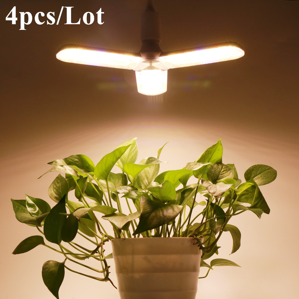 (4pcs/Lot) E27 LED Grow Light 150W Full Spectrum For Greenhouse Indoor Plant And Flower High Yield Growth Lamp Adjustable Shape