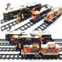 NEW City Trains Train Station Tracks Rail Building Blocks Kits Legoes DIY Bricks Educational Toys for Children Christmas Gifts free delivery factory price children s educational three small trains toys wooden blocks trains kids models building toy