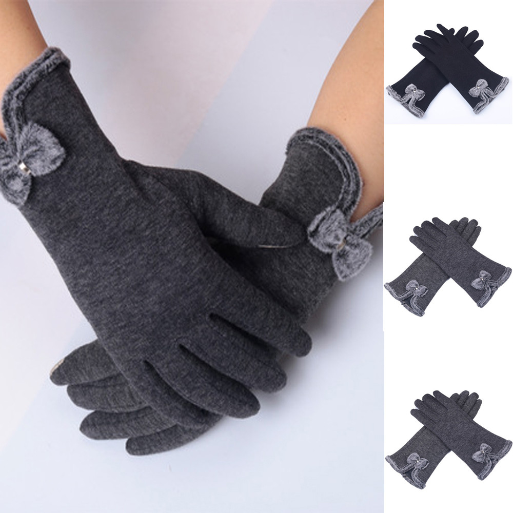 Winter Touch Screen Gloves Women Women Fashion Winter Warm Full Finger Hand Gloves Ski Wind Protect Hands Winter Warm Gloves#11