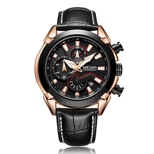 MEGIR Creative Chronograph Military Sport Watch Men Top Brand Luxury Leather Army Quartz Watches Male Clock Relogio Masculino | Fotoflaco.net