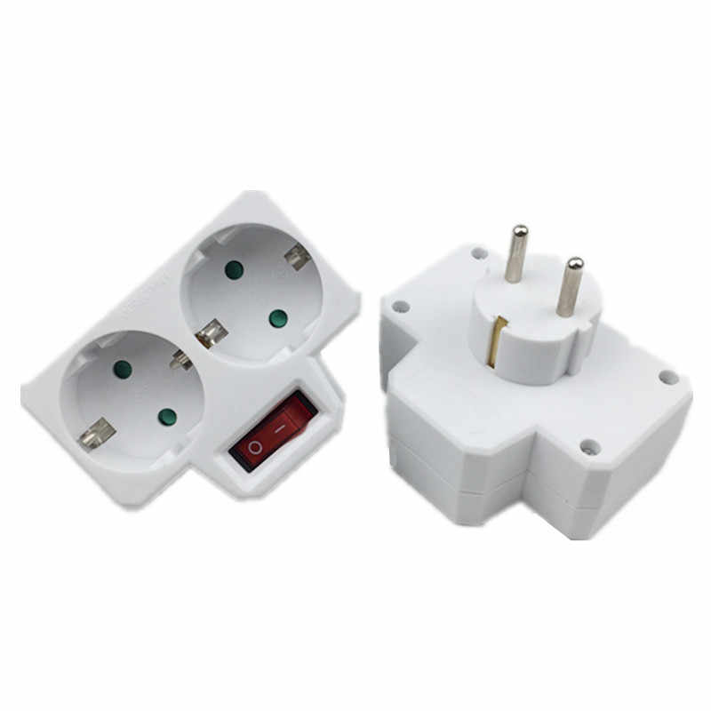 1 Stks/partij Socket Converter Een Turn Meerdere Twee Of Drie Gat Adapter Uitbreiding Multifunctionele Power Conversion Plug