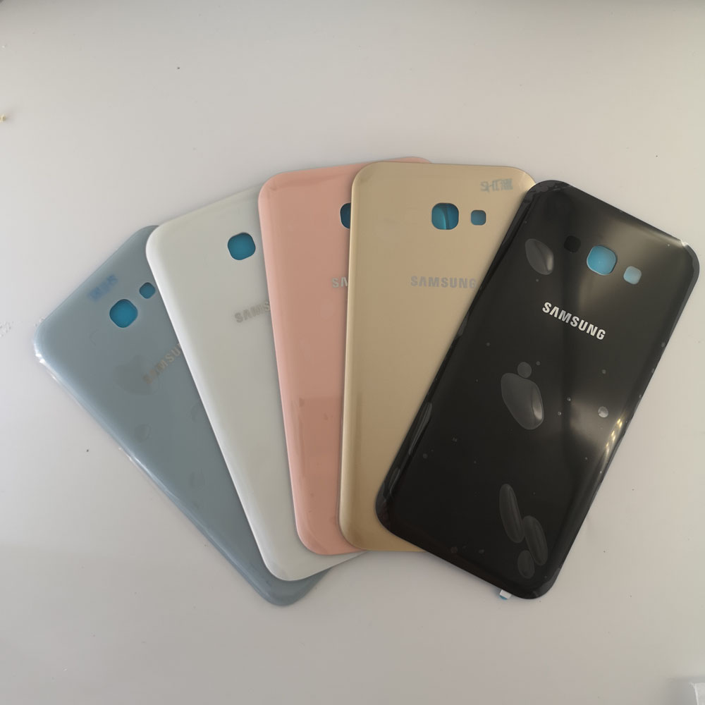 סמסונג A3/A5/A7 2017 כיסוי אחורי סוללה מקרה 3D זכוכית שיכון כיסוי Samsung Galaxy A320 A520 A720 דלת אחורית + דבק מדבקה