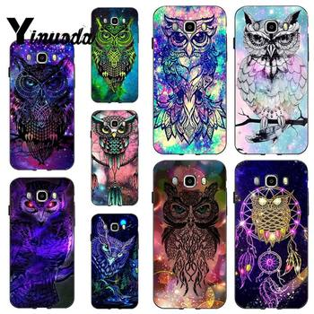 Yinuoda Owl and Dream Catcher Splendid Soft black Phone Case for samsung a30 A30S a51 a50 a71 A40 A70 A21 A21S a11 a91 image
