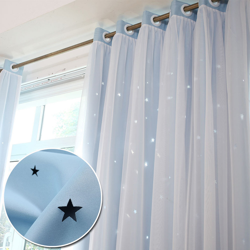 Star Princess Pink Blackout Curtains for Girl Living Room Window Treatment for Wedding Room Europe Drapes Blind Best Home Decor