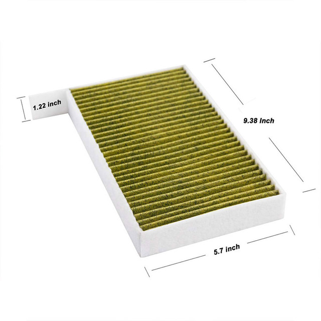 1PC Car Cabin Air Filter Replacement with Activated Carbon for Tesla Model 3 2017 2018 2019 Car Air Conditioning Filter PM 2.5 3