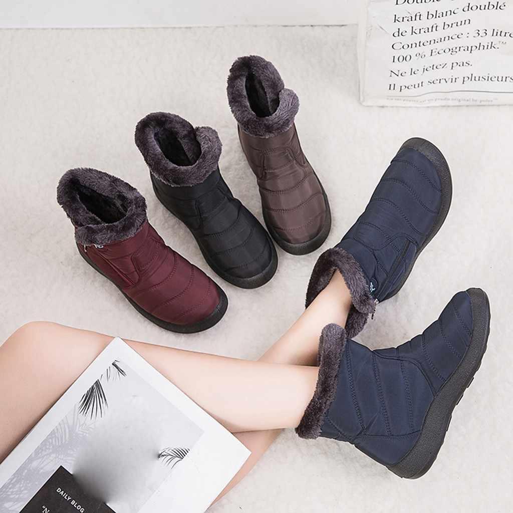 SAGACE çizmeler kadın moda kış kar sıcak rahat botlar ayak bileği kış kısa Bootie su geçirmez ayakkabı ayakkabı çizme #45