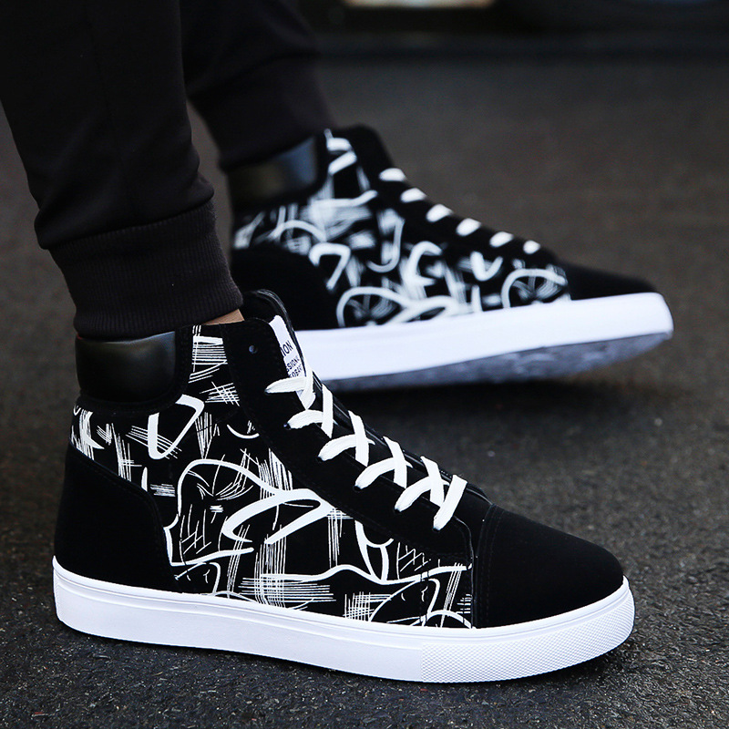 Super Hot Spring and Autumn Men Boots Comfortable Quality High Top Shoes Men New Casual Shoes Botas Breathable Masculinas wed3