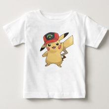 Kids T-shirt  Pikachu Children's T Shirt Pure Cotton Short Sleeve Crew Pokemon Neck Tshirt Costume Boys Girls 2020 T-shirt Baby cotton fashion t shirt crew neck eye snake king short sleeve tall mens t shirt