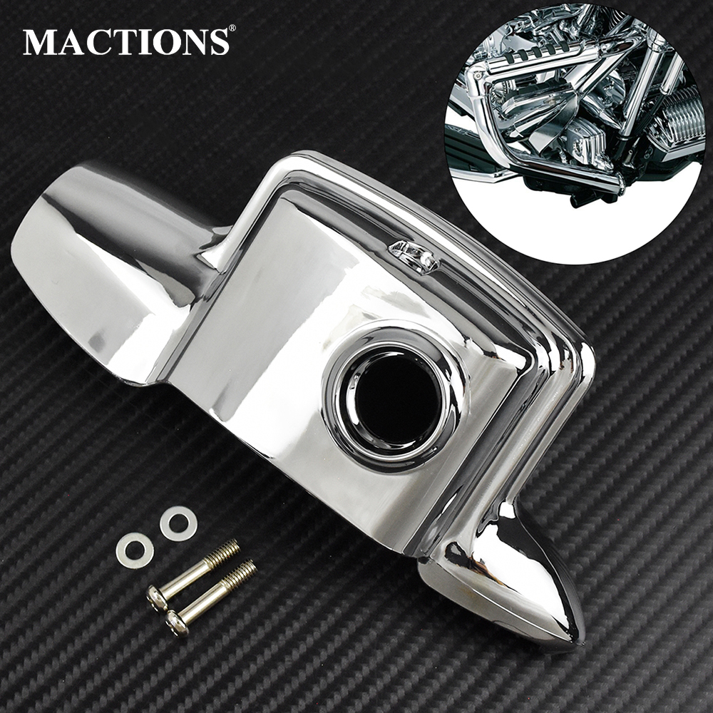 Chrome Rear Motorcycle Brake Master Cylinder Cover For Harley Touring 2008-2019 Electra Glide Road Street Glide Road King FLHR