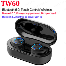 TW60 tws Wireless Earphones Touch Control Invisible Bluetooth Earphones Auto Pairing Bluetooth 5.0 Sports Earphones Waterproof.