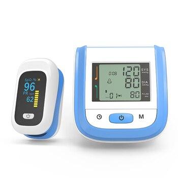 BOXYM Medical Digital Wrist Blood Pressure Monitor Sphygmomanometer Finger Pulse Oximeter SpO2 Saturation Meter Family Health 1