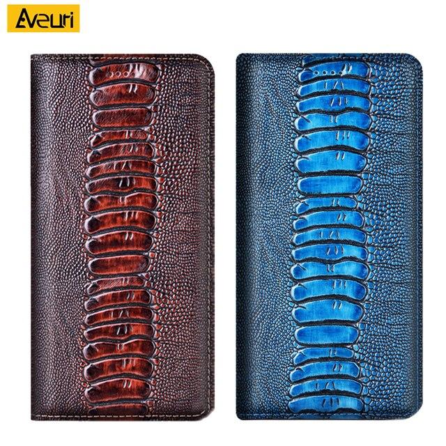 Luxo caso de telefone couro genuíno para oppo realme 2 3 3i 5 5i 5S 6 6i 6s 7 7i pro 4g 5g avestruz capa para realme q 7 4g 5g caso