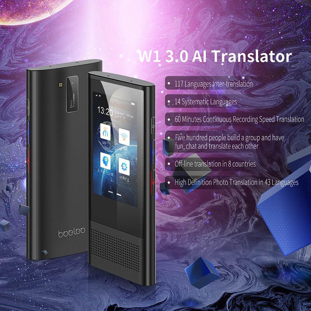 Boeleo W1 3.0 AI Translator 117 Languages WIFI 4G Offline  Portable Voice Device Smart Business Translation Machine