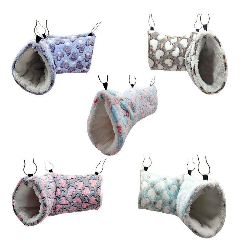 Hanging Tunnel Hamster Sugar Glider Hammock Swing Cage Sleeping Bed House for Small Animals Chinchilla Ferret Squirrel Rat