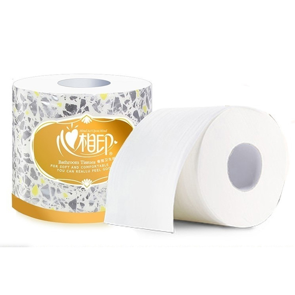 Xin Xiang Yin 1 Roll 3 Layers Roll Toilet Paper Bathroom Paper Tissue Rolling Paper Superior Grade Soft Thick Native Wood Pulp