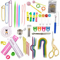 35 arten Nähen Zubehör Für Häkeln Haken Und Stricken Nadeln DIY Nadeln Kunst Handwerk Weben Mit Stich Marker Nähen Werkzeuge