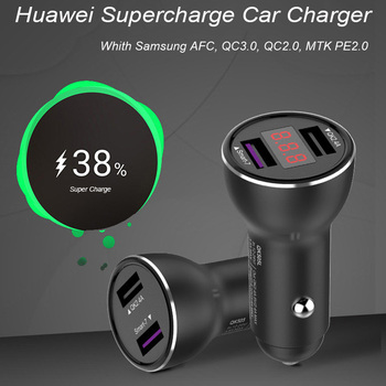 Huawei Supercharge Car Charger Metal FCP Fast Charge for Huawei P30 P20 P10 P9 Plus Mate 30 20 10 9 8 Pro Lite Honor V20 V10