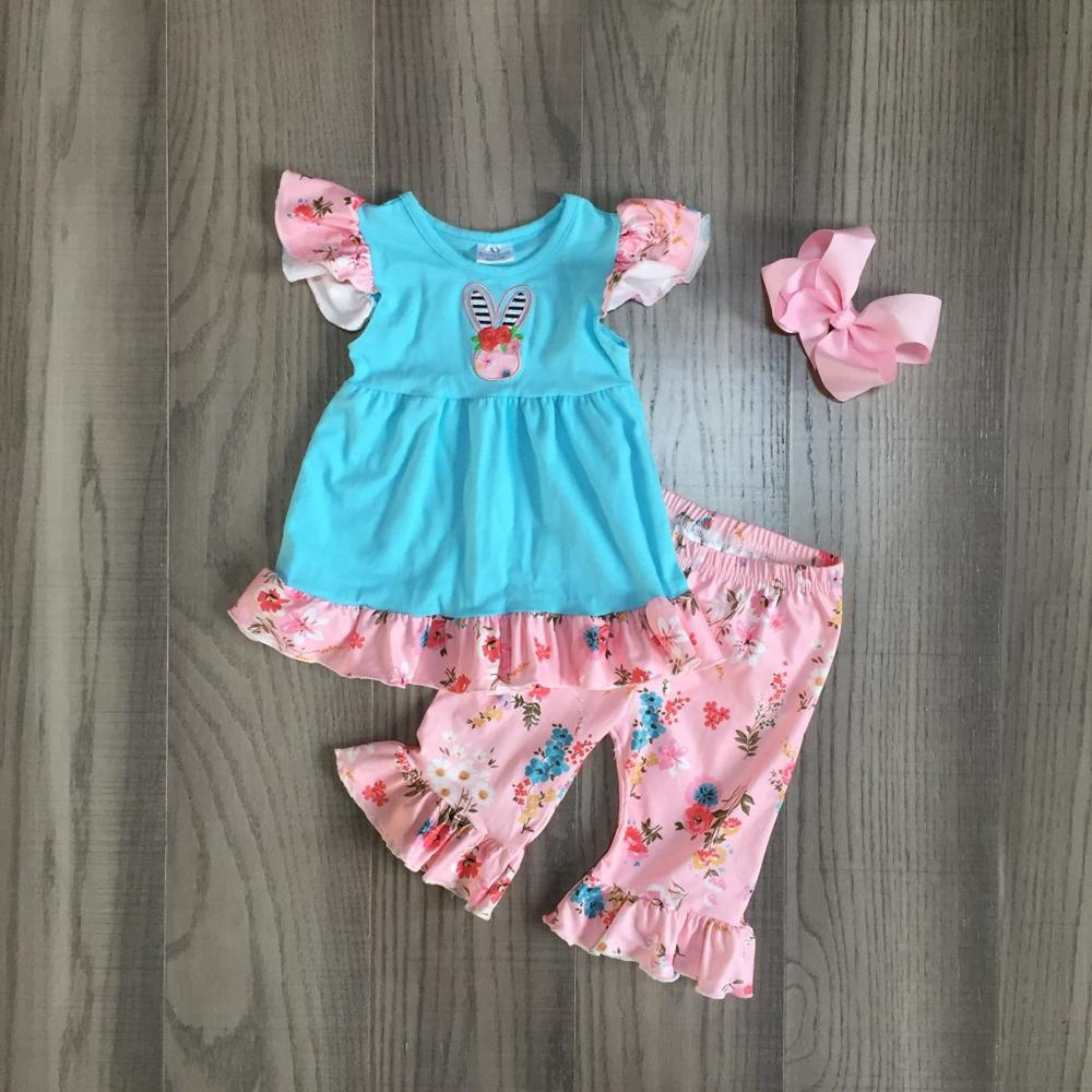 EASTER Boutique Baby Outfit New Toddler Easter Spring Romper ruffle girl bunny