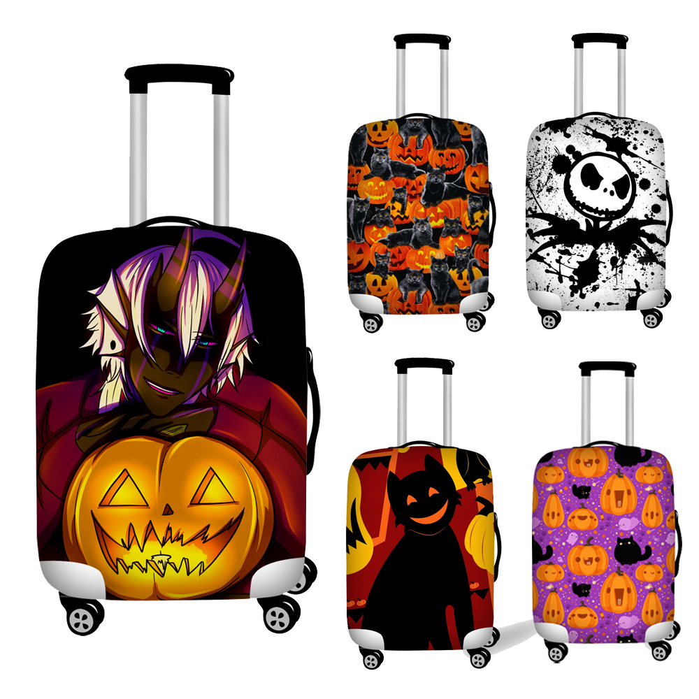 Nopersonality Hallween Them Stretch Luggage Cover Suitcase Protection Covers Dust Proof Baggage Covers Travel Accessories
