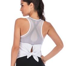New Women Fitness Sports Shirt Sleeveless Yoga Top Running Gym Shirt Vest Athletic Undershirt Yoga Gym Wear Tank Top NVYJ136