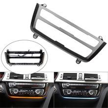 Carbon Fiber Styling Car Luminescent AC/Radio Control Panel Trim LED For BMW F30 F31 F32 F80 F82 3 4 Series M3 M4 Blue&Orange