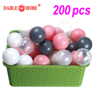 200 Pcs/bag Plastic Ocean Ball Eco-Friendly Colorful Ball Pits Funny Baby Kid Swim Soft Toy Water Pool Ocean Wave Ball Dia 5.5cm(China)