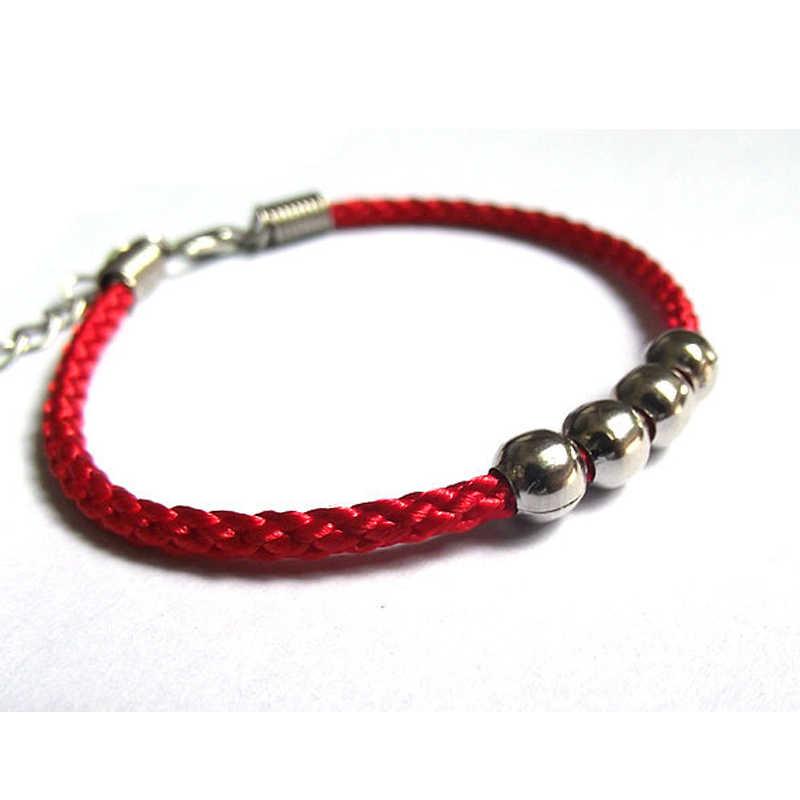 Pulsera y brazaletes de cuerda de la suerte con cuentas de aleación hechas a mano para Mujeres Hombres pulseras de hilo de cuerda roja