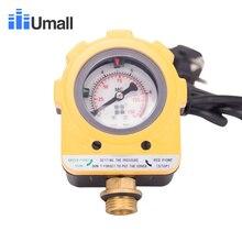 Bomba de agua de 10 bares, interruptor fotoeléctrico inteligente automático, medidor de presión electrónico ajustable, controlador AU Plug 220v