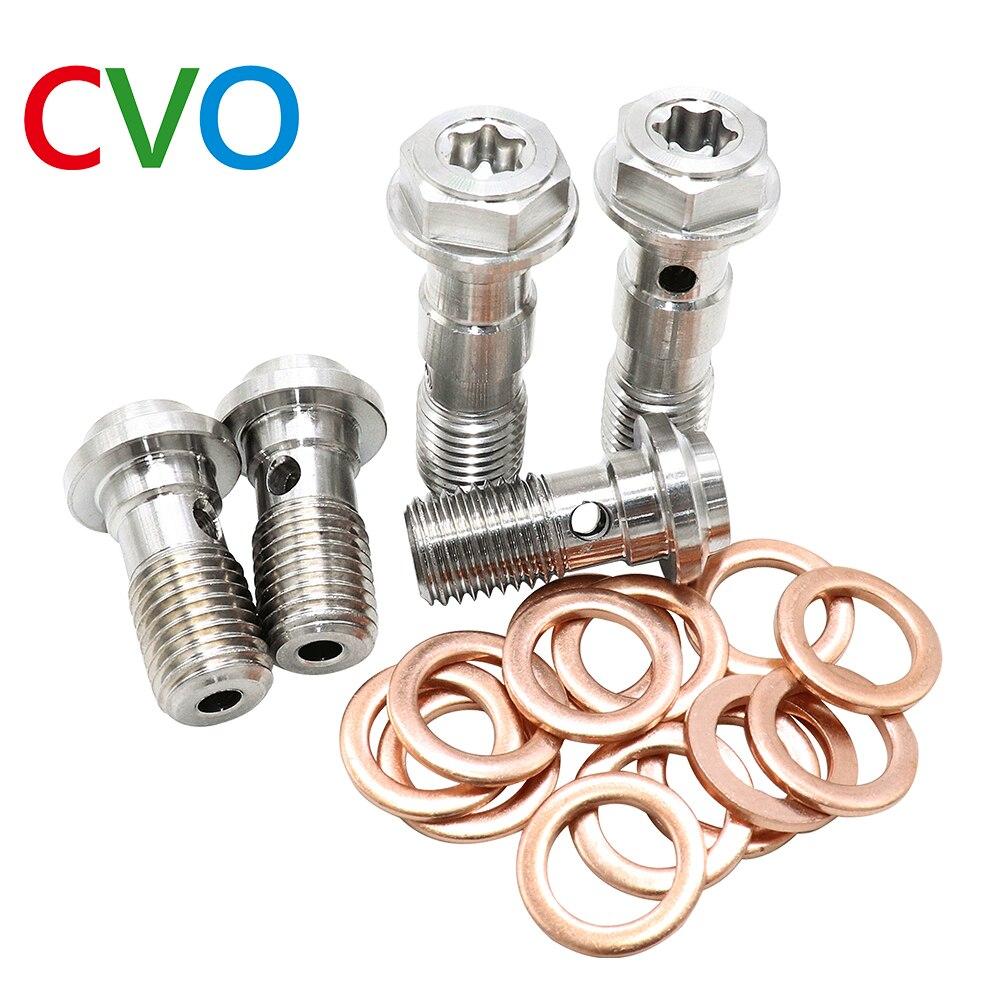 Universal M10*1.0/M10*1.25MM Drain Oil Screw Motorcycle Exhaust screw Drain Banjo Bolt For Brake Caliper/Tubing Hose/Master