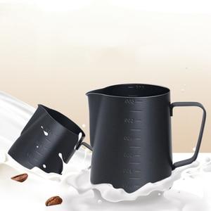 Image 5 - 테플론 스테인레스 스틸 우유 Frothing 주전자 에스프레소 커피 투수 바리 스타 크래프트 커피 라떼 우유 Frothing 주전자 커피 투수