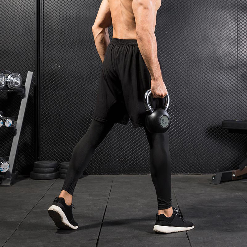 Men Sports Shorts 2 In 1 Training Running Tight Pants for Workout Gym Riding M88