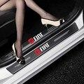 4 шт. наклейки на пороги автомобиля из углеродного волокна против царапин для Fiat Panda Bravo Punto Croma 500 595 аксессуары для стайлинга автомобиля