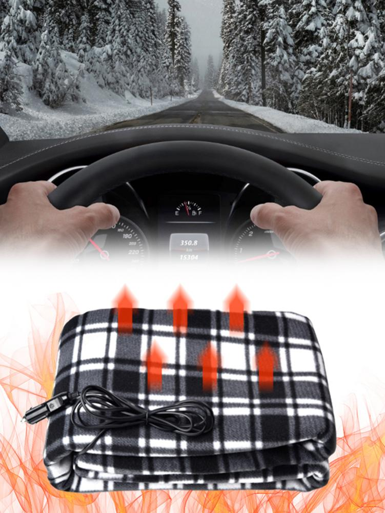 Electric Blanket Warm Heater For Body Lattice Energy Saving Warm 12v Car Electric Heating Blanket Carpets Heated Mat 150*100CM