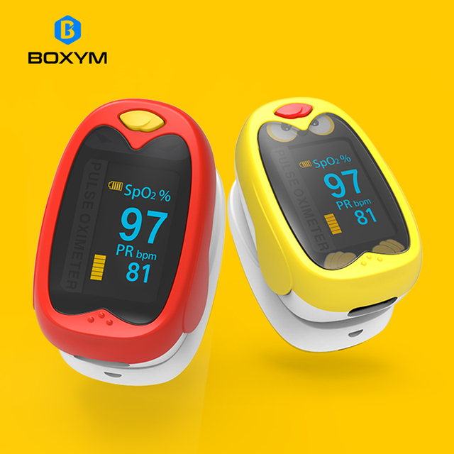 BOXYM Infant Finger Pulse Oximeter Pediatric SpO2 Blood Oxygen Saturation Meter baby Neonatal child kids Rechargeable 1